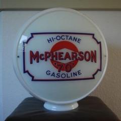 Very Rare Mcphearson Gas Globe