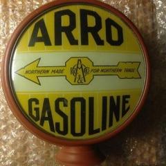 Very Rare Arro Metal Frame Gas Globe
