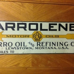 Very Rare Arro Oil Tin Sign