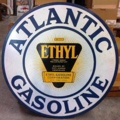Atlantic Ethyl Porcelain Sign