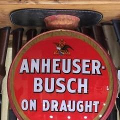 Rare Anheuser Busch Metal Frame Beer Globe