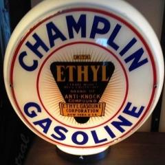 Scarce Champlin Ethyl Gas Globe