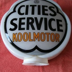 Scarce Cities Service Hull Clover Gas Globe