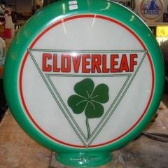 Rare Cloverleaf Gas Globe