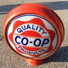 Rare CO-OP Metal Frame Gas Globe