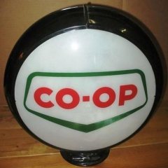 Rare Canadian Co-Op Gas Globe