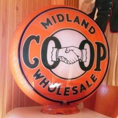 CO-OP Original Orange Ripple Gas Globe