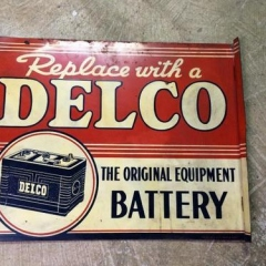 Delco Flange Battery Sign