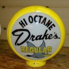 Rare Drakes Hi Octane Gas Globe