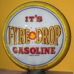 Sarce Fyre Drop Gas Globe With Yellow/Purple Frame!