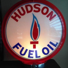 Rare Hudson Fuel Oil Gas Globe