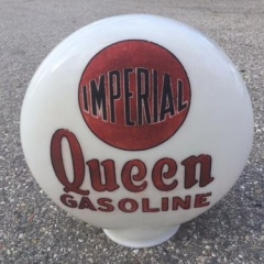 Rare Imperial Queen One Piece Etched Gas Globe