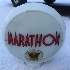Very Rare Marathon Ethyl Gas Globe