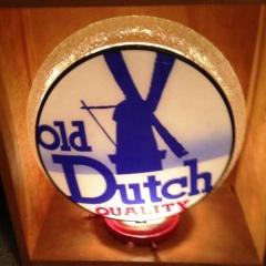 Old Dutch Quality Clear Ripple Gas Globe