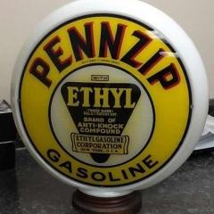 Pennzip Ethyl Gas Globe