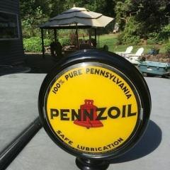 Very Rare Pennzoil Oil Cabinet Globe
