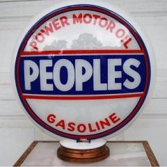 Very Rare Peoples Oil Company Gas Globe