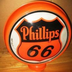 Scarce Phillips 66 Metal Frame Gas Globe