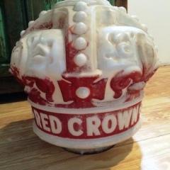 Standard Oil Raised Letters Red Crown Gas Globe