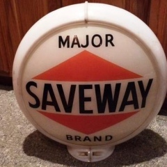 Very Rare Unusual Saveway Gas Globe