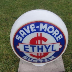 Save More Gas Globe