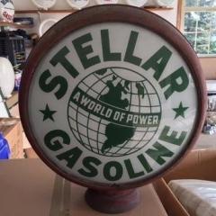 Very Rare Stellar Metal Frame Gas Globe