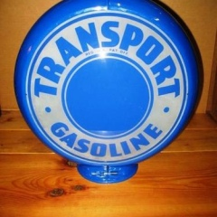 Rare Pennzoil Transport Gas Globe