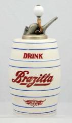 Rare Barrel Shaped Brazilla Syrup Dispenser