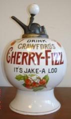 Crawford's Cherry Fizz Syrup Dispenser