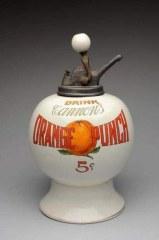 Orange Cannon Syrup Dispenser
