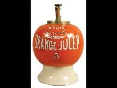 Orange Julep Syrup Dispenser