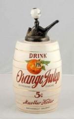 Rare Orange Julep Barrel Syrup Dispenser