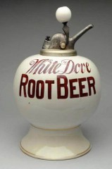 Very Rare White Dover Root Beer Syrup Dispenser