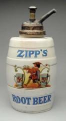 Zipps Root Beer Barrel Syrup Dispenser